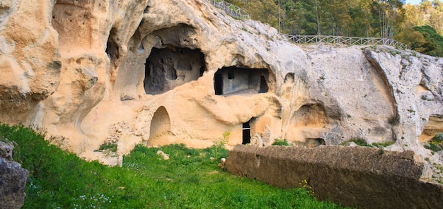 Byzantinisches dorf, calascibetta