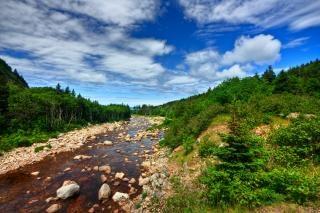 Cabot trail hdr-bild
