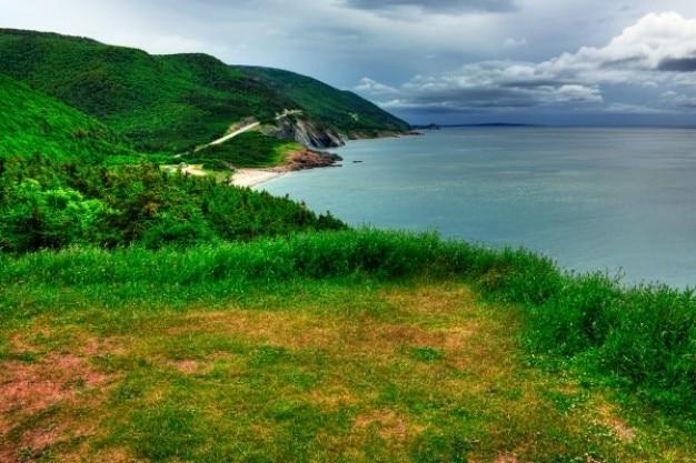 Cabot trail landschaft hdr