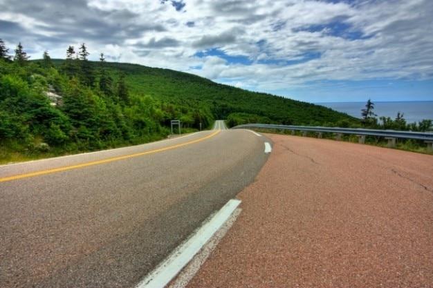Cabot trail landschaftlich schöne strecke hdr
