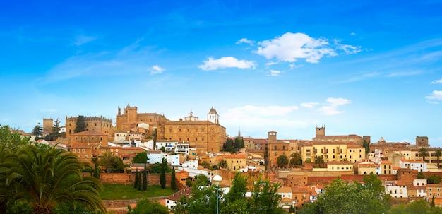 Caceres skyline in extremadura von spanien