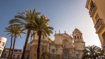 Cadiz-Kathedralenquadrat in Spanien