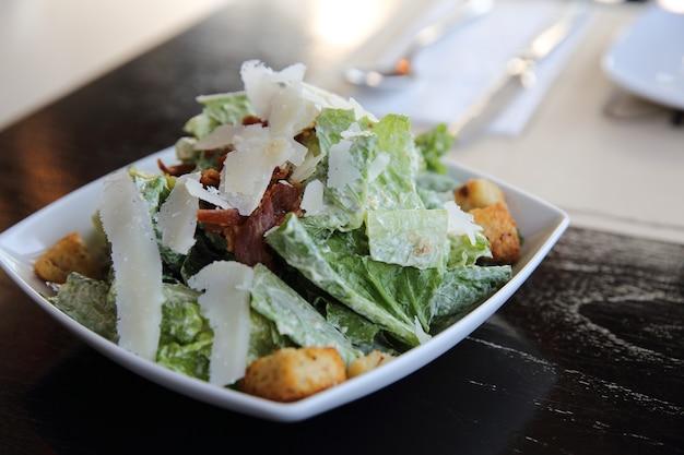 Caesar salat in nahaufnahme