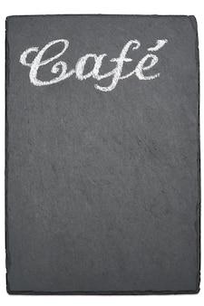 Cafe handgeschriebene inschrift zeichen auf kreidetafel
