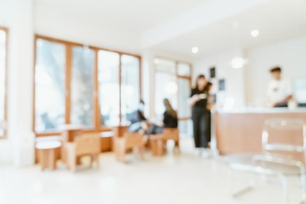 Café-restaurant mit abstrakter unschärfe