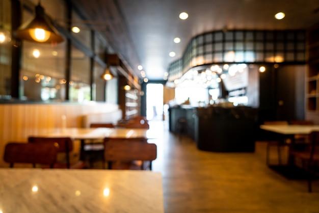 Café restaurant verwischen