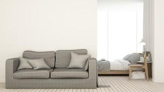 Caférauminnenraum und Wanddekoration - Wiedergabe 3d