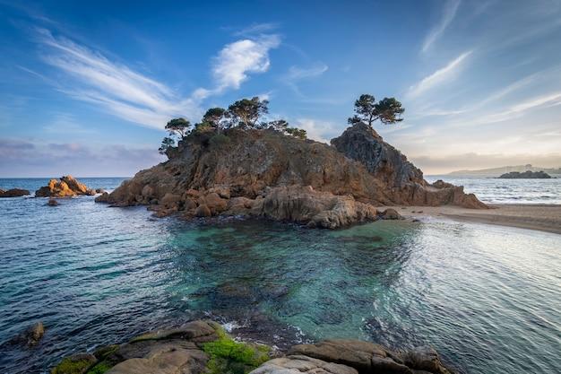 Cala cap roig landschaft der costa brava