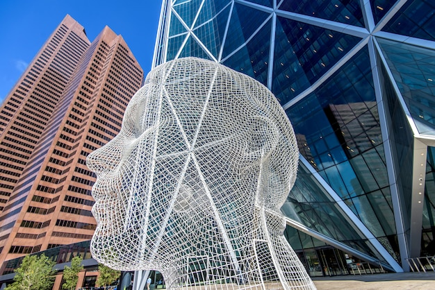 Calgary-stadtskyline, alberta, kanada