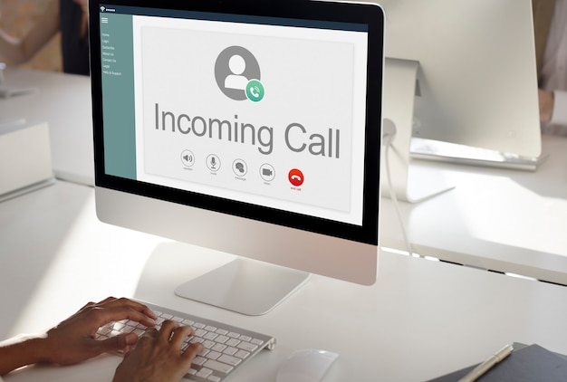 Calling communication connect networking-konzept
