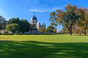 Calton Gardens und Royal Ausstellung Gebäude in Melbourne, Australien