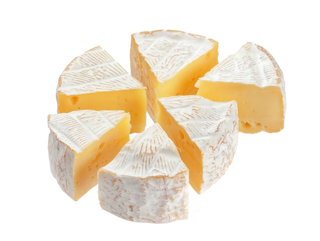 Camembert-käse-segmente