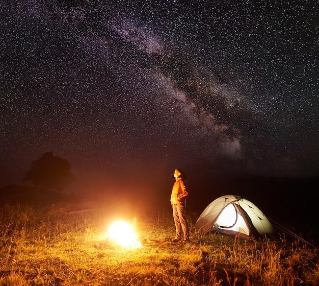 Camping in den bergen.