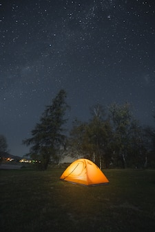 Camping in der nacht neuseeland