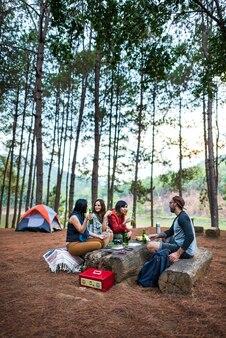 Camping-konzept