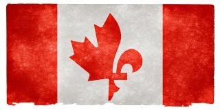 Canada fusion grunge flag quebecois