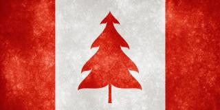 Canada grunge flag christmas tree