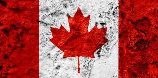 Canada grunge flag stein