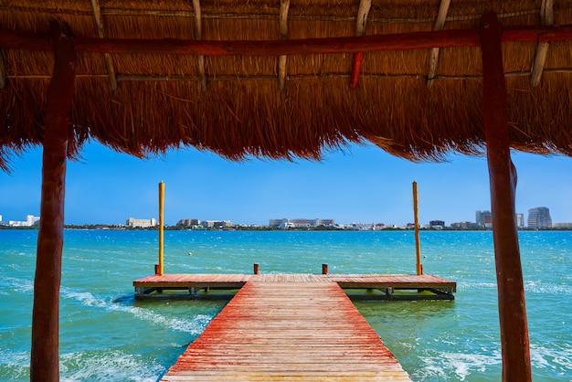 Cancun pok-ta-pok-bereich in der hotelzone