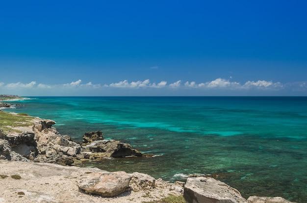 Cancun strand, mexiko, karibik.