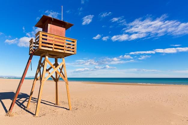 Canet de berenguer strand in valencia in spanien