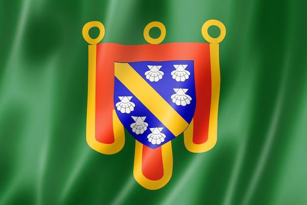 Cantal county flagge, frankreich