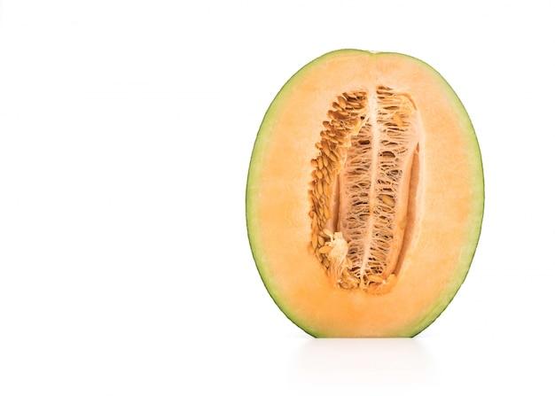 Cantaloupe melone auf weiß