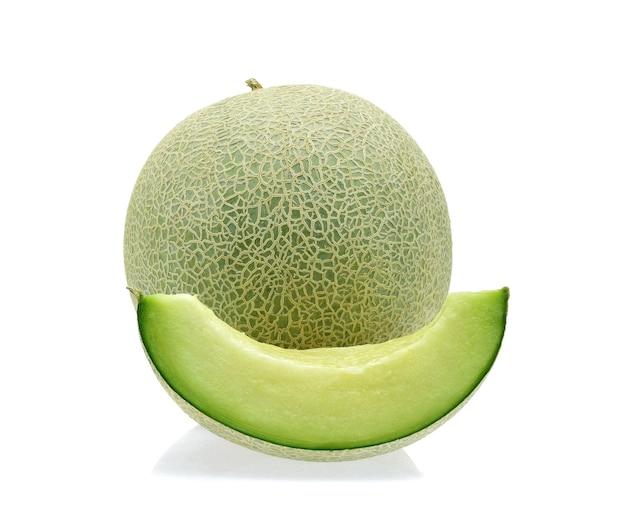 Cantaloupe melone isoliert auf weiß