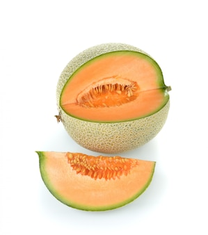 Cantaloupe melone isoliert