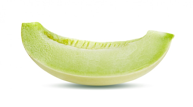 Cantaloupe melonenscheibe isoliert