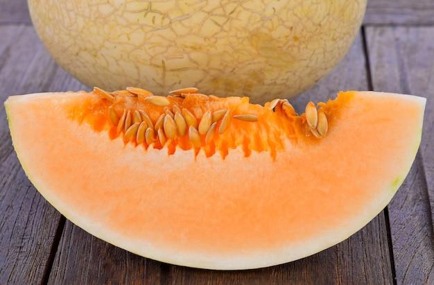 Cantaloupe scheiben