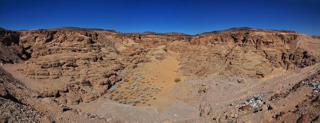 Canyon in der wüste sahara, sudan