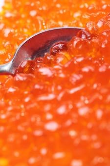 Capelin sushi kaviar - masago orange. geräucherter forellenkaviar oder koscherer lachskaviar