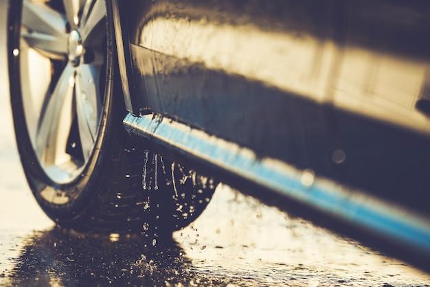 Car washing details nahaufnahme