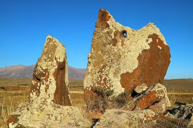 Carahunge, oft als armenisches stonehenge bezeichnet, eine prähistorische archäologische stätte in armenien