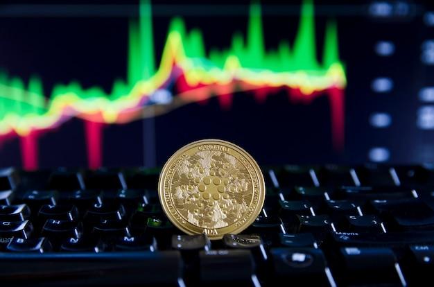 Cardano ada coin token digitale kryptowährungsmünze für dezentrales finanzbanking