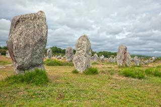 Carnac steine hdr historischen