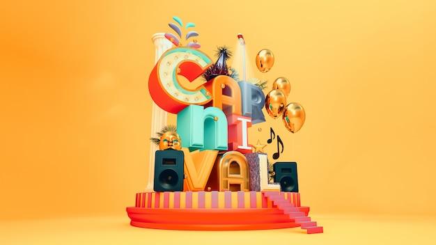 Carnival party schriftzug