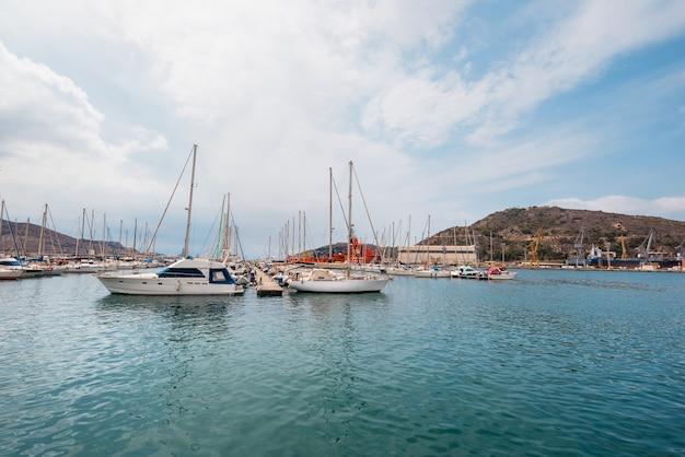 Cartagena-hafen, murcia, spanien.