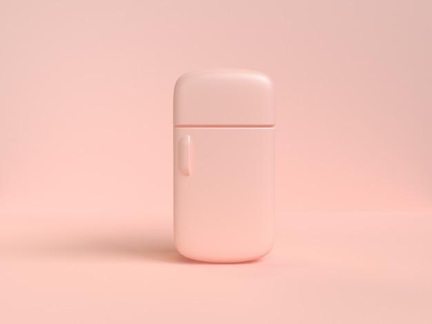 Cartoon-stil kühlschrank abstrakte weiche rosa-creme