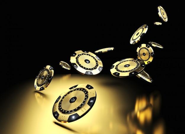 Casino mit goldenen chips