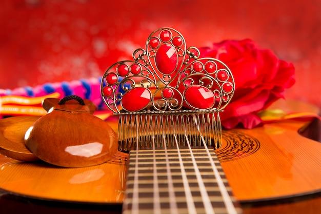 Cassic spanische gitarre mit flamenco-elementen