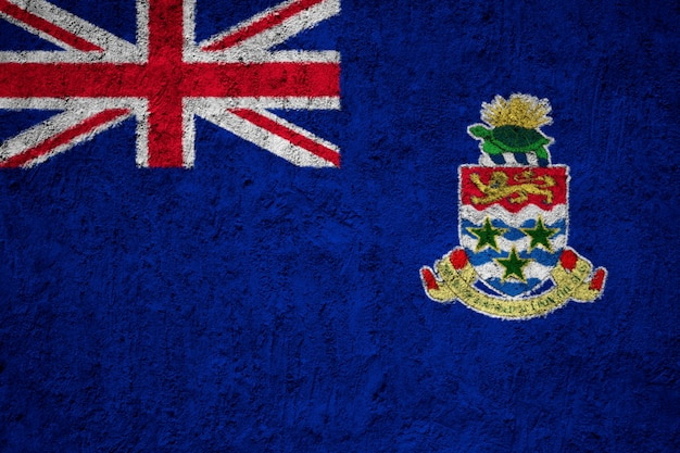 Cayman islands-flagge gemalt auf schmutzwand