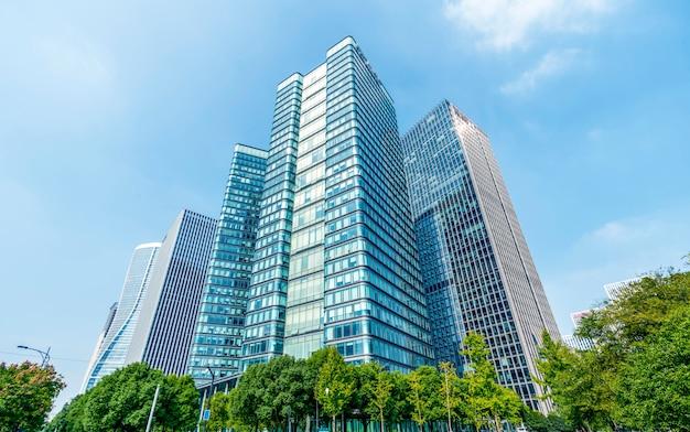 Cbd-finanzbezirk-quadratwolkenkratzer