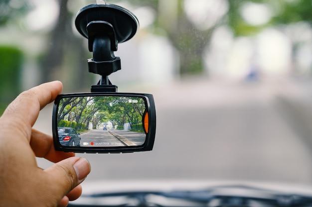 Cctv-autokamera zur sicherheit beim verkehrsunfall