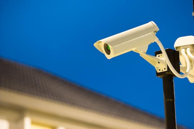 Cctv-kamera im heimatdorf