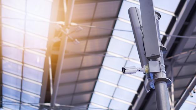 Cctv-kameras am flughafen