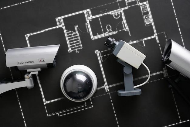 Cctv sicherheit online-kamera mit hausplan
