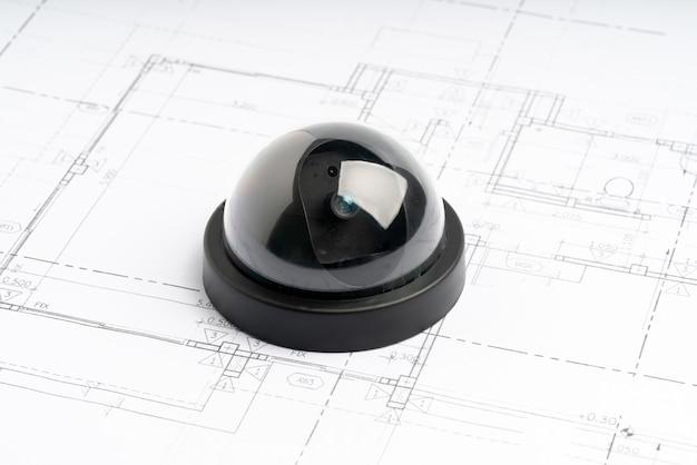 Cctv-sicherheit online-kamera mit hausplan