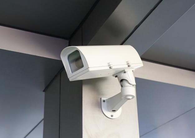 Cctv-überwachungskamera des morden gebäudes